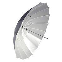 """Зонт Falcon параболический черно/белый 60"""" (152 см) 16 спиц (AU-170 60"""")"""