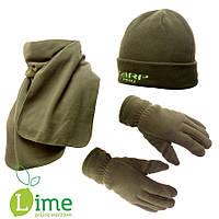 Набор Carp Pro: Шапка флисовая + шарф + рукавицы