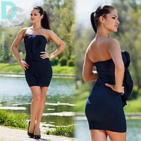 Платье Корсетное темно-синее