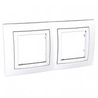 Рамка двухместная Белый Schneider Electric Unica Basic (mgu2.004.18)