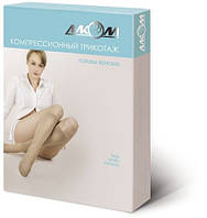 Гольфы женские компрессионные лечебные с открытым носком I класс компрессии беж/ черн Размер - 1,2,3,4