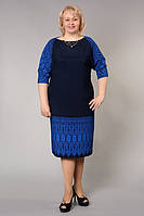 Деловое женское платье больших размеров из качественного трикотажа