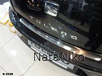 Накладка защитная на задний бампер Seat TOLEDO IV 5D 2014>> с загибом