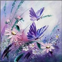 Картина для рисования камнями стразами Diamond painting Алмазная вышивка алмазами мозаика бабочки