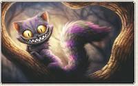 Картина для рисования камнями стразами Diamond painting Алмазная вышивка алмазами мозаика чеширский кот