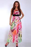 Нарядное платье сарафан дизайнерского кроя из королевского шифона