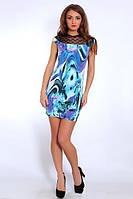 Стильное летнее платье с гипюровой отделкой модного кроя