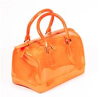 Повседневная сумка силиконовая оранжевая маленькая