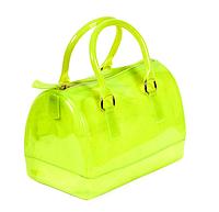 Повседневная прозрачная сумка из силикона зеленого цвета маленькая
