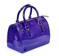 Сиреневая прозрачная сумка из силикона маленькая