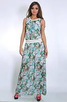 Очаровательное платье сарафан из королевского шифона на лето