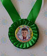 Медаль для Выпускника  с фотографией Зелёная