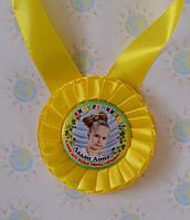 Медаль для Выпускника  с фотографией Жёлтая