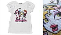 """Футболка для девочки """"Monster High"""" /Школа монстров"""