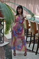 Платье Дизайнерский шифон в пол