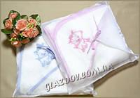 Полотенце уголок махровое для купания в упаковке