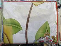 Двуспальное постельное белье бязь GOLD - на белом большие цветы
