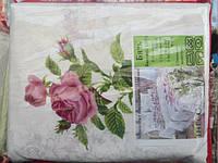 Постельное двуспальное белье GOLD - ветки роз