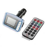 """1.44 """" жк беспроводной FM передатчик автомобильный mp3-плеер +SD TF  карта USB накопитель"""