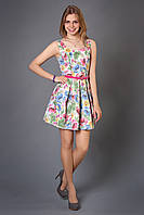 Коттоновое платье с цветочным принтом Малибу
