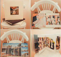 Свадебная фотокнига в переплете с итальянского кожзама на 10 разворотов (30х30 см) серии PremiumBook