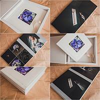 Свадебная фотокнига в переплете с итальянского кожзама 770 грн (23х23 см) серии PremiumBook