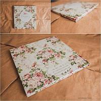 Свадебная фотокнига c фотообложкой на 10 разворотов (23х23 см) серии PremiumBook