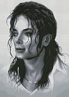 Набор для вышивания крестиком Майкл Джексон - король поп- музыки. Размер: 26*36 см