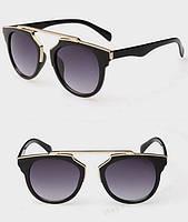 """Женские солнцезащитные очки, ретро - """"глаза кошечки"""", градиентная тонировка линз"""
