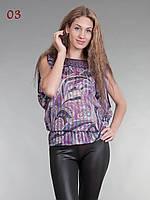 Блузка шифон восточный стиль фиолетовая, фото 1