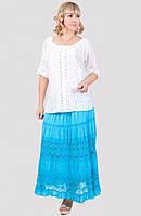 Отличная хлопковая юбка модного кроя производитель Индия