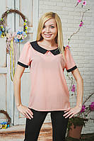 Блуза женская шифон персик, фото 1
