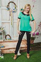 Блуза женская шифон мята, фото 1