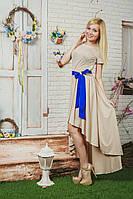 Женское летнее платье беж, фото 1