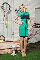 Трикотажное женское платье мята, фото 1