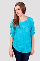Модная летняя блуза с оригинальным узором на пуговицах