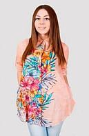 Качественная летняя блуза с красивым цветочным принтом производитель Индия