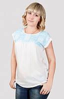 Легкая летняя блуза с коротким рукавом отличного качества