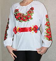 Вышиванка женская с маками