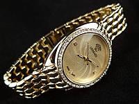 Стильные женские Versace - цвет золото, золотистый циферблат