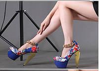 Эксклюзив !!! Pinkpalms 2015 европейские подиум яркие туфли 2 цвета