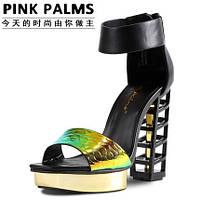 Эксклюзив !!! Pinkpalms 2015 европейские подиум яркие босоножки 2 цвета