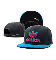 Кепка Adidas Snapback черно-голубая
