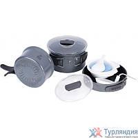 Набор посуды из анодированого алюминия Tramp на 2-3 персоны (профилированное дно) TRC-034