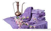 Махровое полотенце Terry Lux Ларами 50х90 см фиолетовый