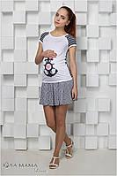 Короткая летняя юбка для будущих мам Sasha