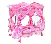 Кроватка для куклы Melogo (Metr+) 9350 розовый 34575