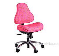 Кресло ортопедическое с эффектом памяти Y-128 P обивка розовая с абстрактным узором Mealux