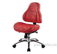 Кресло ортопедическое с эффектом памяти Y-128 R обивка красная с абстрактным узором Mealux