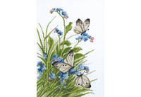 Повітруля Набор для вышивки крестом Бабочки в цветах Метелики в квітах П6013